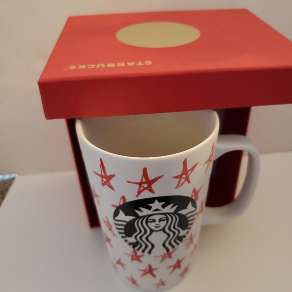 NWT Starbucks Red Star Siren Mug 16 Fl Ounces 2014